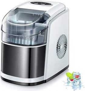 Kismile Countertop Ice Maker Machine,26Lbs/24H Compact Ice Maker Review
