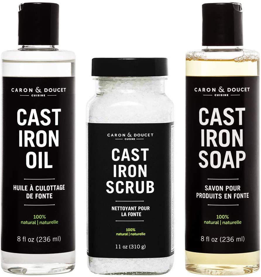 Caron & Doucet - Ultimate Cast Iron Set: Seasoning Oil