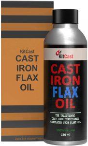 KitCast Natural Cast Iron Flax Oil