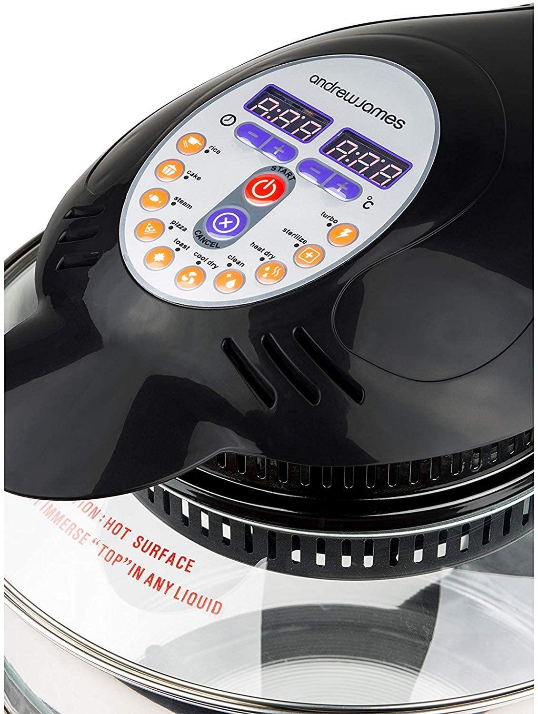 Controls function of andrew james halogen oven