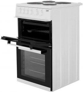 Beko KD533AW 50cm Twin Cavity Electric Cooker