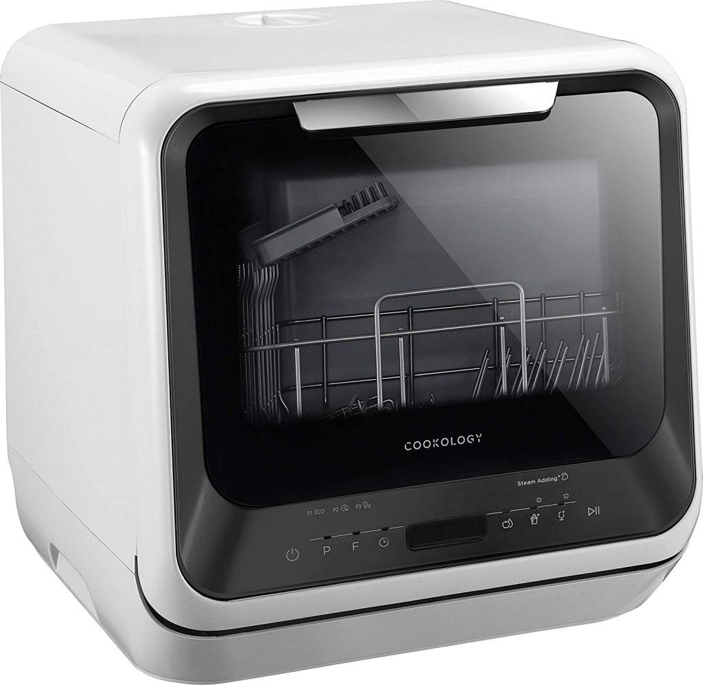 Cookology CMDW2BK Mini Portable Dishwasher Table Top side view