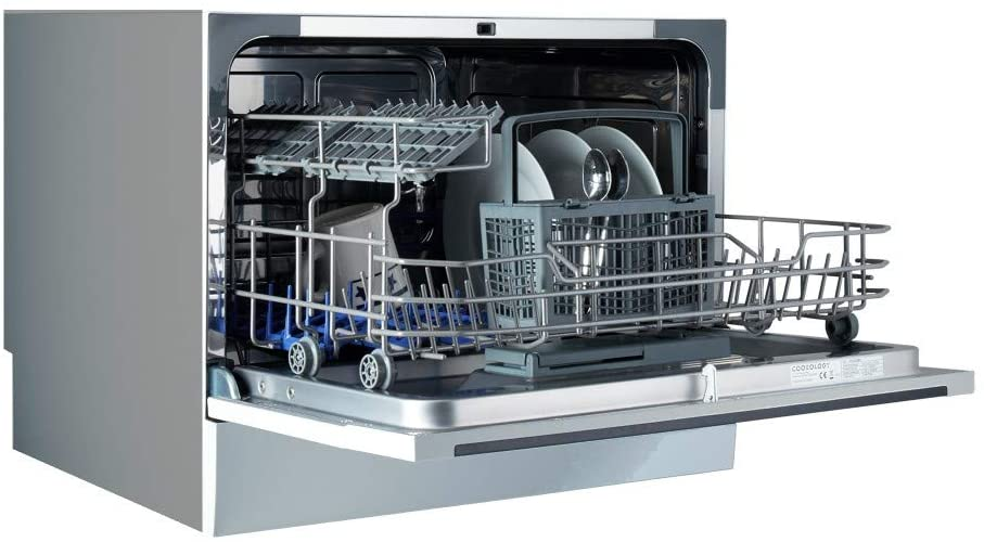 Cookology Mini Counter top Tabletop Dishwasher Side View
