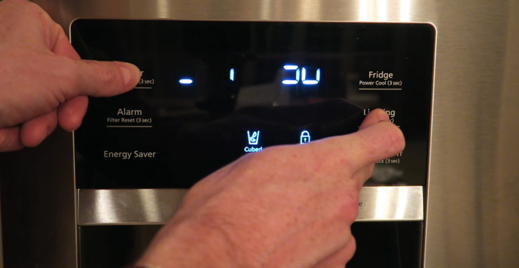 Forced defrosting a Samsung ice maker