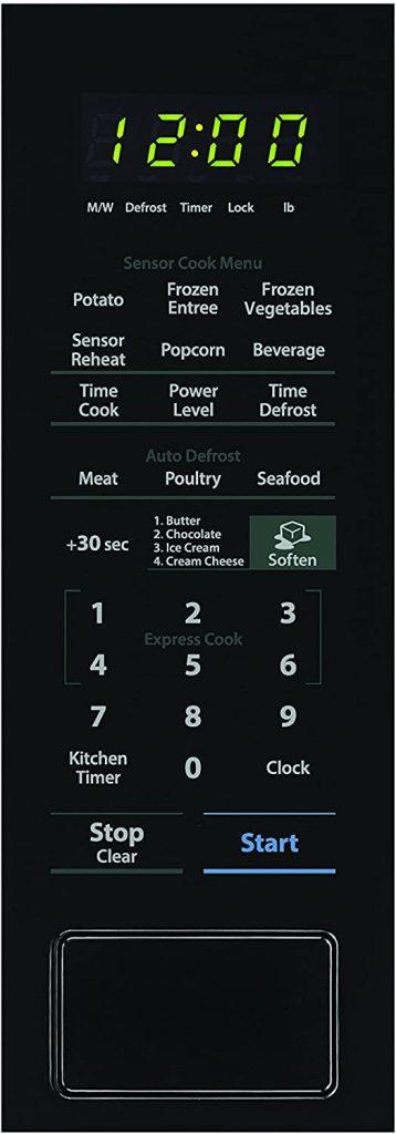 SHARP Black Carousel 1.4 Cu. Ft. 1000W Countertop Microwave Oven Panel