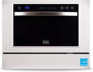 BLACK+DECKER BCD6W Compact Dishwasher