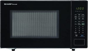 SHARP Black Carousel 1.4 Cu. Ft. 1000W Countertop Microwave Oven