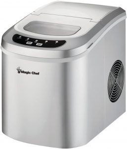 Magic Chef 27-Lb. Portable Countertop Ice Maker in Silver